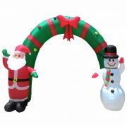 Arco Infl�vel Decora��o de Natal 2,10m de Altura Iluminado BiVolt CBRN0586 CD1561