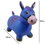 Brinquedo Cavalinho Pula Pula Infl�vel com Som e Led WMTDS787 Azul