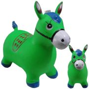 Brinquedo Cavalinho Pula Pula Infl�vel com Som e Led WMTDS787 Verde