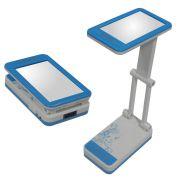 Lumin�ria de Mesa Articulada com Espelho-15 Leds  DS 1796-Azul