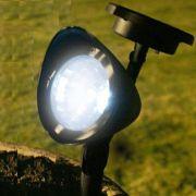 Lumin�ria Solar Jardim PVC R�gido Spot 1383 3 Leds