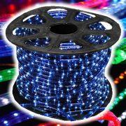 Mangueira Luminosa L�MPADA Azul Corda Natal Pisca Rolo 100mt - 110v - 1052