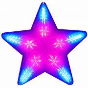 Pisca Pisca Estrela de Natal 20 Leds Colorido RGB 50cm Bi-volt CBRN0654