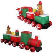 Trem Infl�vel Decora��o de Natal 2,70 Iluminado BiVolt CBRN0579 CD1560