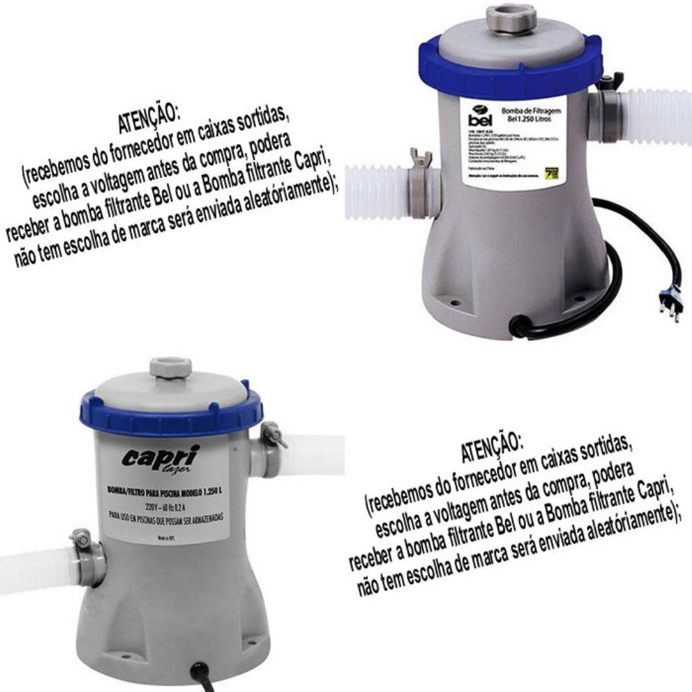 Piscina infl vel 3700 lts bestway bomba filtrante for Bomba piscina