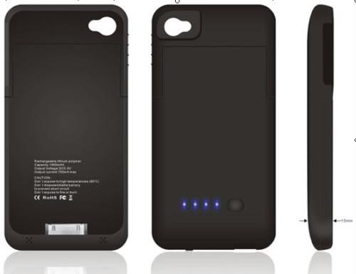 Capa Carregadora para iPhone 4  e 4s - Bateria Extra - Frete Gr�tis  - Thata Esportes