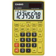 Calculadora de bolso Casio Colorful SL-300NC-BYW-S-DH 8 d�gitos, C�lculo de hora, C�lculo de bolso, Preta e Amarela
