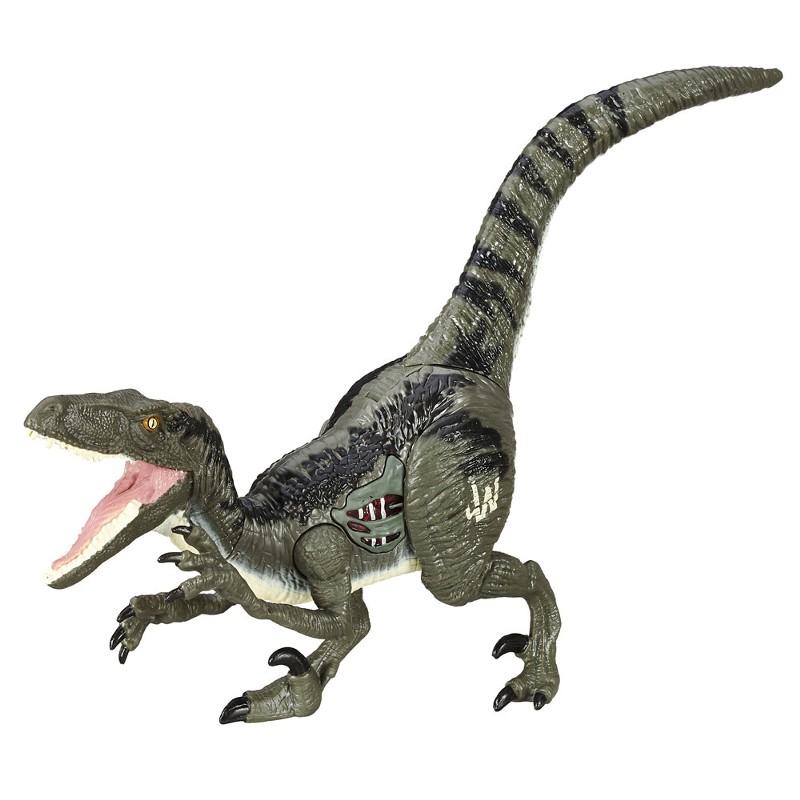 Boneco  Jurassic World Dino Com Luz Velociraptor Blue - Hasbro