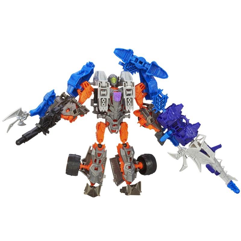 Boneco Transformers 4 Construct Bots Dinobot Warriors Lockdown e Hangnail Dino - Hasbro