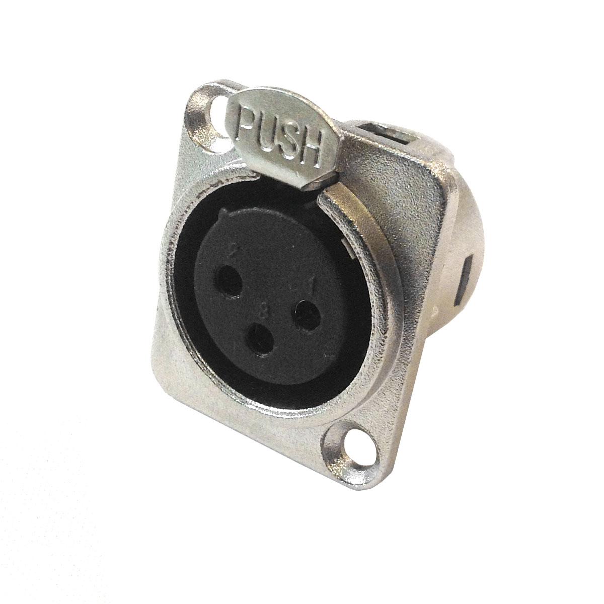 Conector Cannon XLR F�mea Painel WC 823 - Wireconex