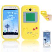 Capa design Retro Gameboy para Samsung Galaxy S3 S III i9300 - Amarelo