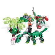 Bloco de Encaixe Dino Saga Safari de Explora��o 272 pc - Xalingo