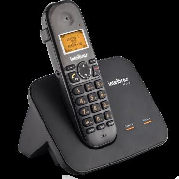 Telefone sem fio digital para 2 linhas Intelbras TS5150