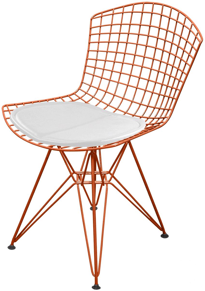 Cadeira Bertoia DKR com Assento - Acobreado