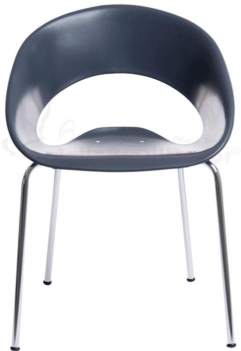 Cadeira Ferrette em Polipropileno Cinza