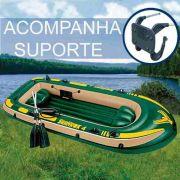 Bote Infl�vel Intex Seahawk 4 Pessoas 400 Remo Suporte Motor