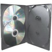 Box Quadruplo Amaray Padr�o DVD Preto 25 unid