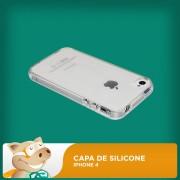 Capa Silicone para Iphone 4 Transparente