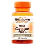 Beta Caroteno 6000UI - 60 C�psulas - Sundown