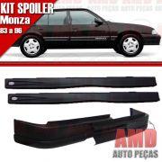 Kit Spoiler Monza 83 � 96 4 Portas Dianteiro Sem Furo + Lateral Com Tela