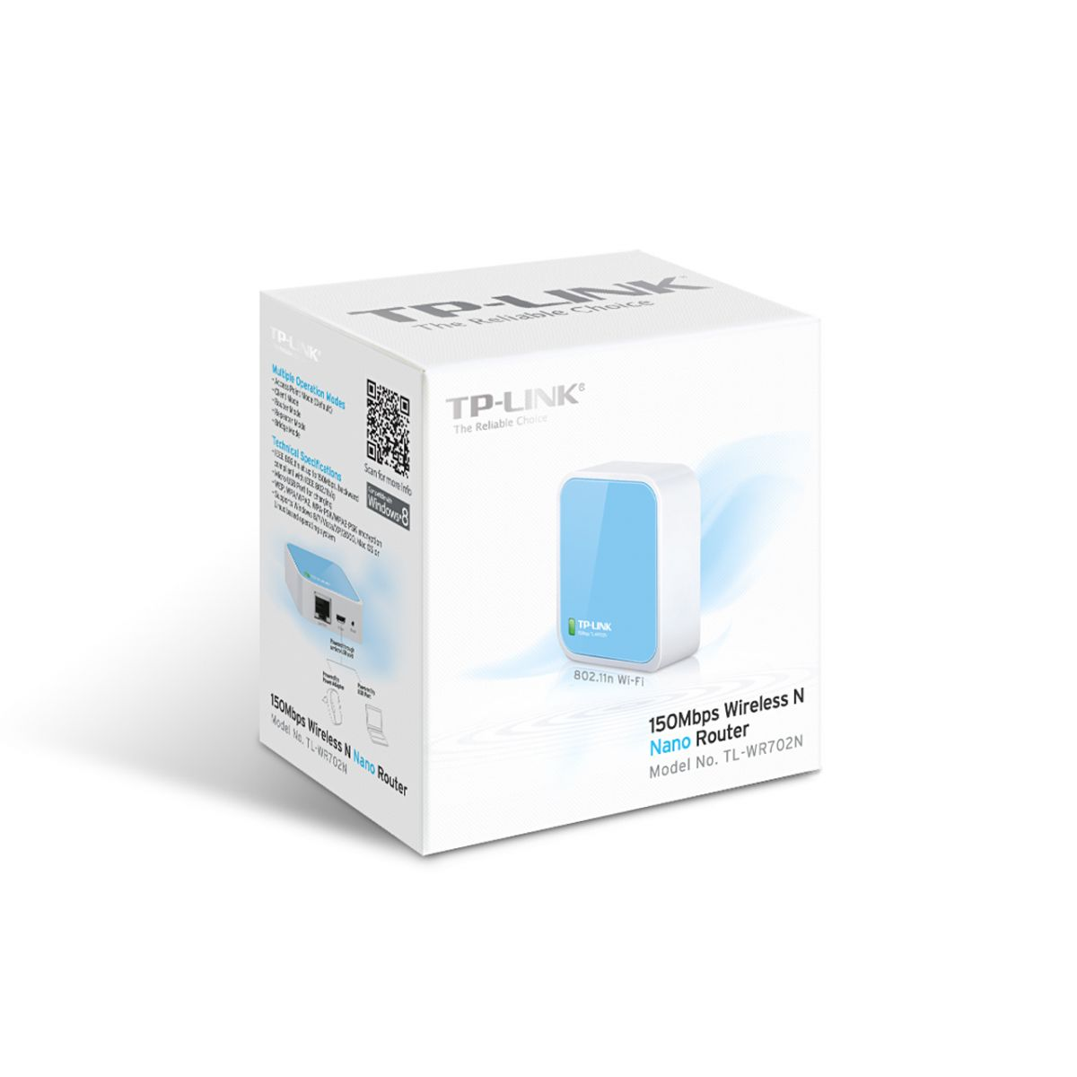 Roteador Portatil TP - Link Wireless N 150Mbps Nano TL - WR702N