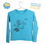 Camiseta Mundo Bita Azul Longa � UV.action