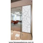 018 - Adesivo Decorativo para Vidro Elipses 2,20 x 0,90m