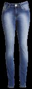 Cal�a fem. jeans marinho alta