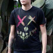 Camiseta Masculina Esquadr�o Suicida Skull Logo