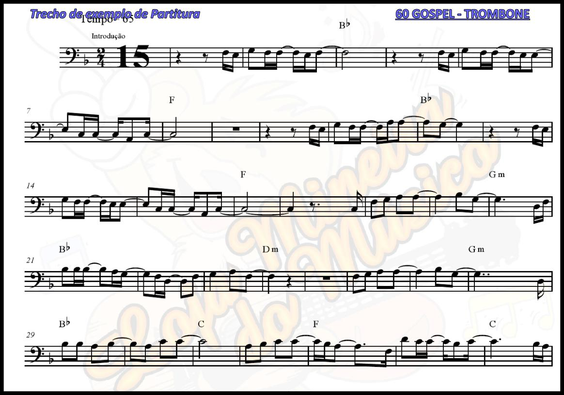 TROMBONE  60 Partituras Gospel com Playbacks Gospel | Hinos Evang�licos
