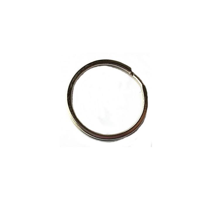 Argola de chaveiro lisa achatada n�quel (100 unidades)- ARN004 ATACADO