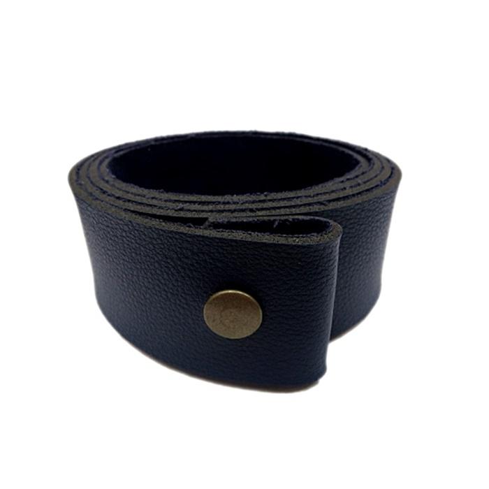 Base de couro para cinto azul- BC001