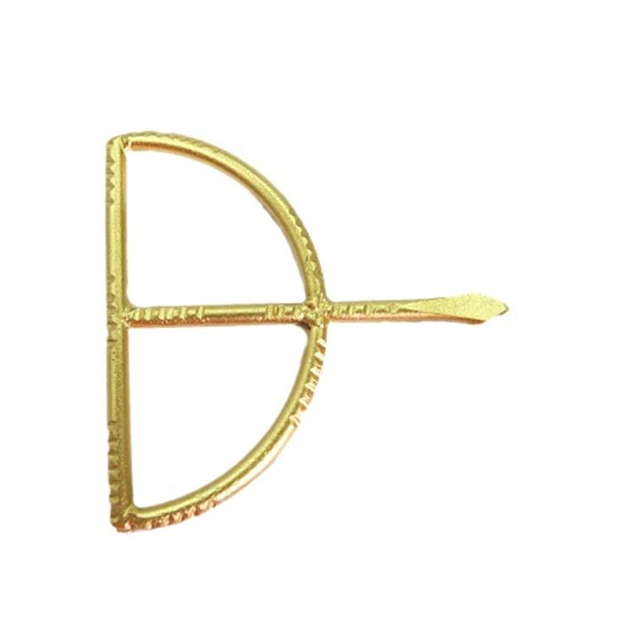 Entremeio Arco e flecha dourado grande- EFD001