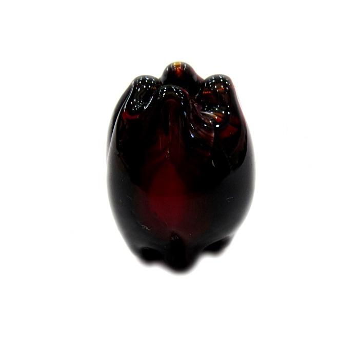Puxado de murano preto c/ vermelho- MU356