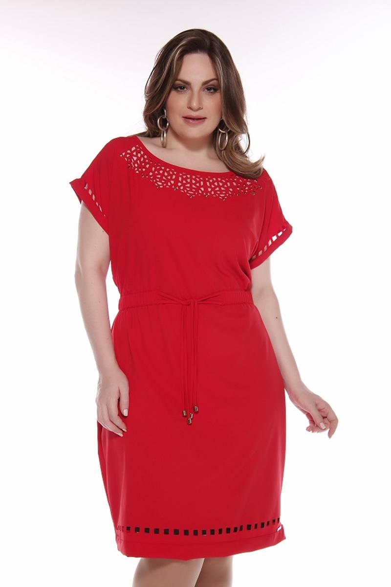 Vestido Midi C�ssia Segeti Red 850