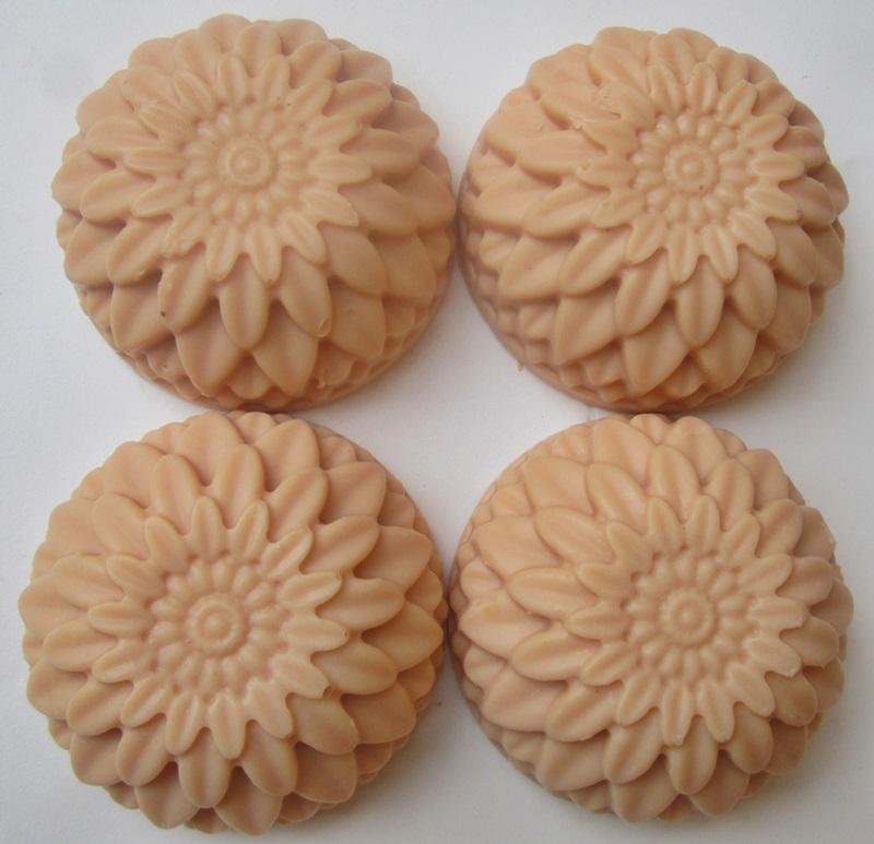 sabonete vegetal artesanal flor - floral 1113B