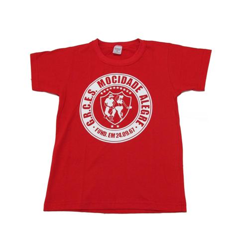 Camiseta cl�ssica com manga logo Mocidade alegre