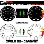 Kit Transl�cido p/ Painel - Cod579v180 - Opala SS 180km/h