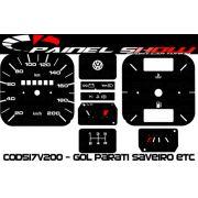 Kit Transl�cido p/ Painel - Cod517v200 - Gol Parati Santana sem Parcial