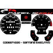 Kit Transl�cido p/ Painel - Cod687v200 - Santana Executivo com Contagiros