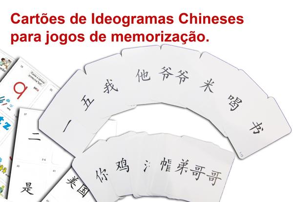 Cart�es de Ideogramas chineses para jogos e memoriza��o