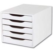 Caixa Arquivo em MDF com 5 Gavetas Pintada - Souza