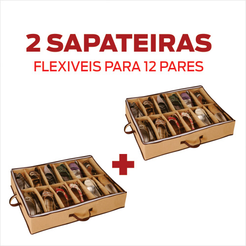 Sapateira Flex�vel 12 Pares - KIT 2 UNID.