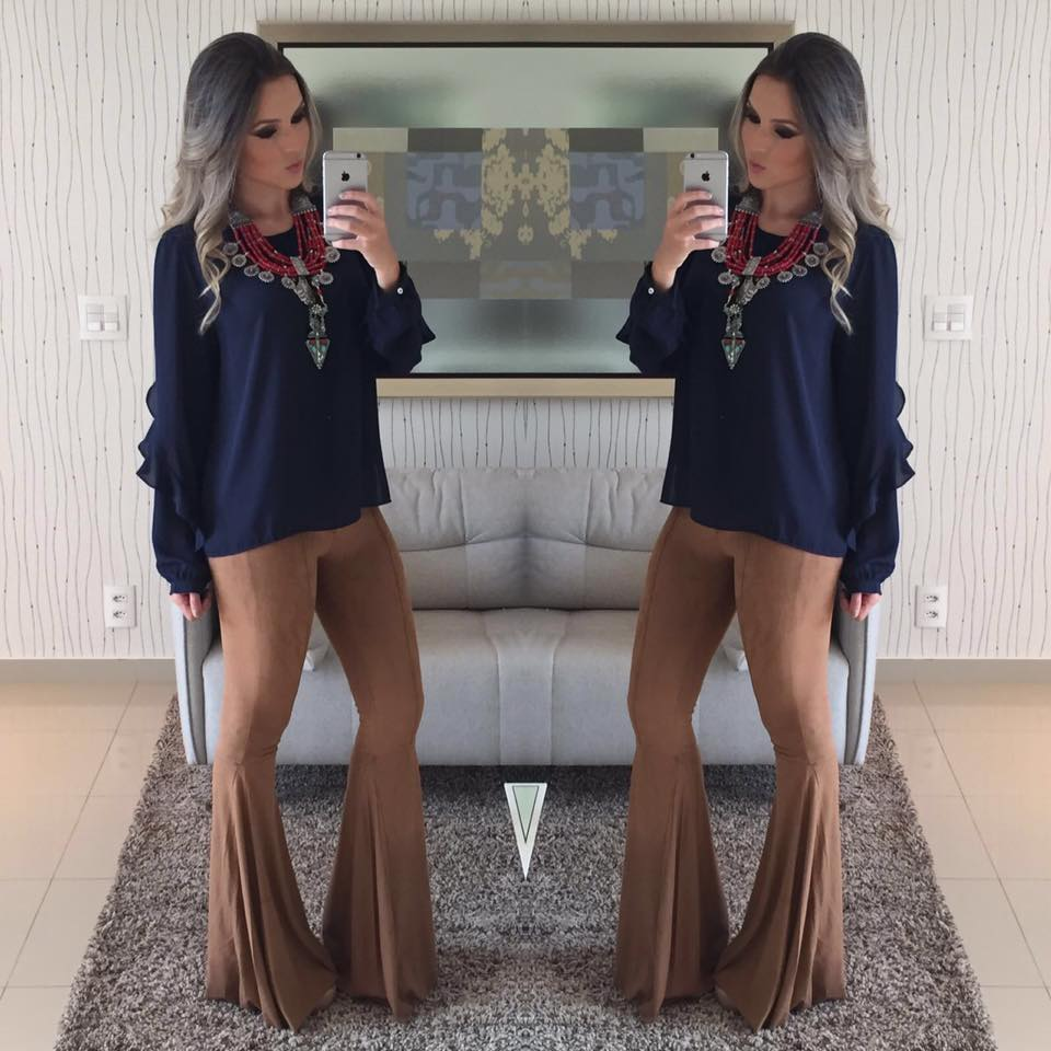Cal�a flare suede