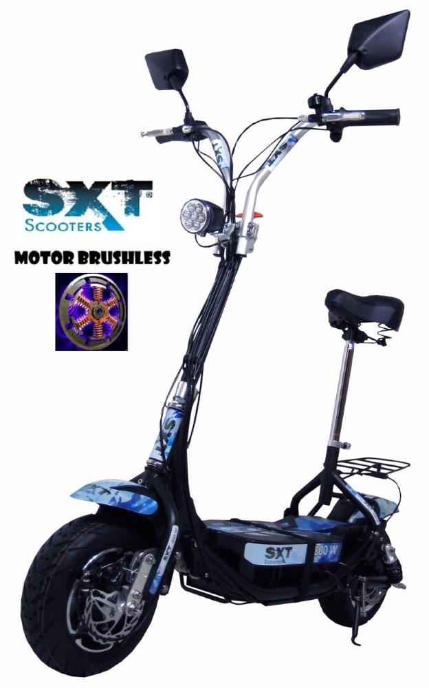 SXT Scooter Patinete El�trico ES08 Motor Brushless 800W 36V