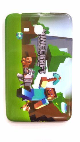 Capa Tablet Samsung Galaxy Tab T110 T111 T113 T116 Minecraft