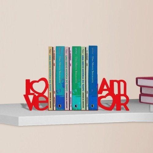 Suporte Aparador de Livros Dvd Cd Temático Love Amor