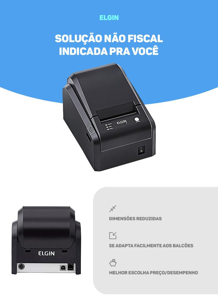 Impressora Termica Elgin Não Fiscal I7 USB com Serrilha (Emb ...
