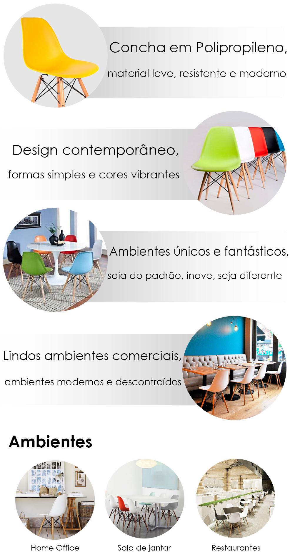 Ambiente com Cadeira Bertoia, Cadeira Bertoia em Ambiente, Cadeira Bertoia Bella Brasil Decor, Banner Bertoia,