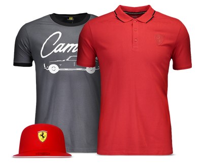 Camisetas e acessórios de Automobilismo